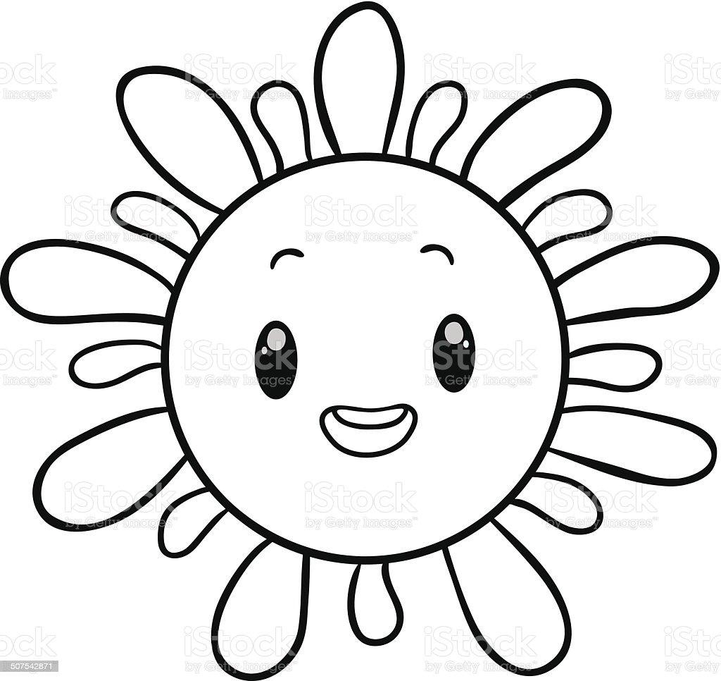 Ilustración de Funny Sol Libro Para Colorear y más banco de imágenes ...