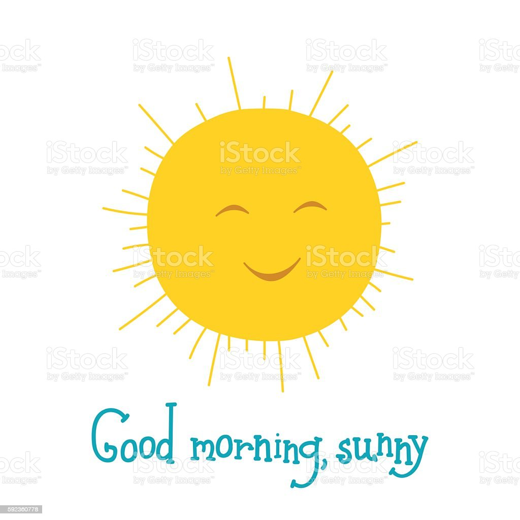 Funny sun smiling in the sky good morning vector illustration stock funny sun smiling in the sky good morning vector illustration royalty free funny sun biocorpaavc Images