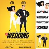 Funny super hero movie poster wedding invitation.