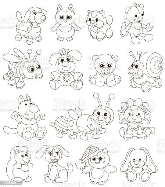 Funny toy animals friendly smiling vector id1056409470?b=1&k=6&m=1056409470&s=612x612&h=9omppwnjetpol6jnhv0zz3rfarzfn noz7g5 ela4tk=