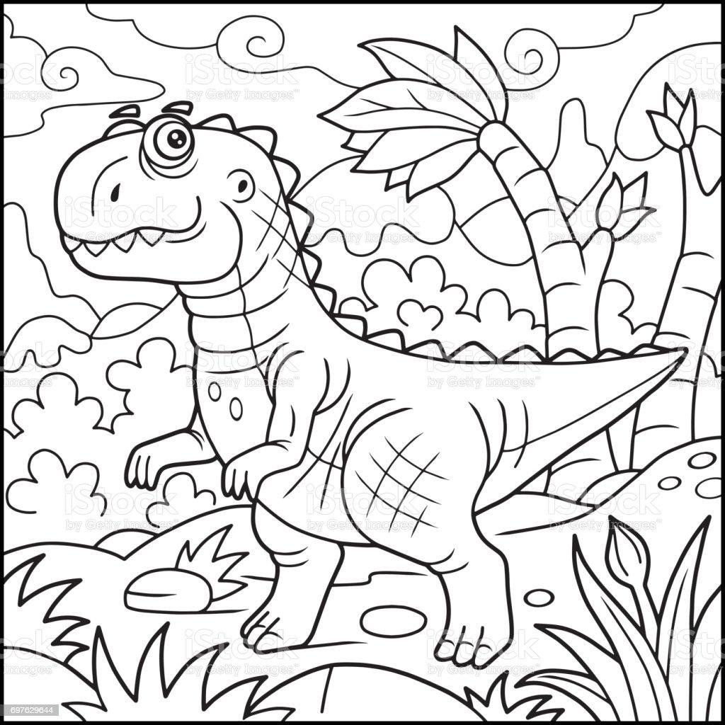 - Funny Tyrannosaurus Coloring Book Stock Illustration - Download