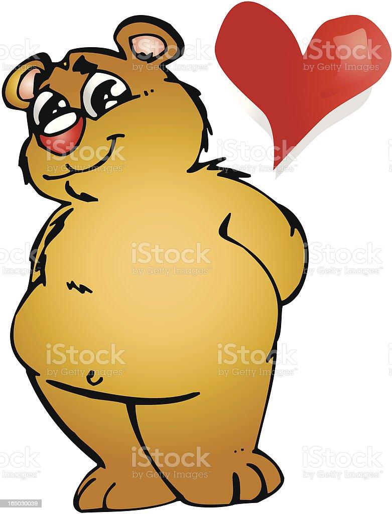 Funny Valentine Bear royalty-free stock vector art