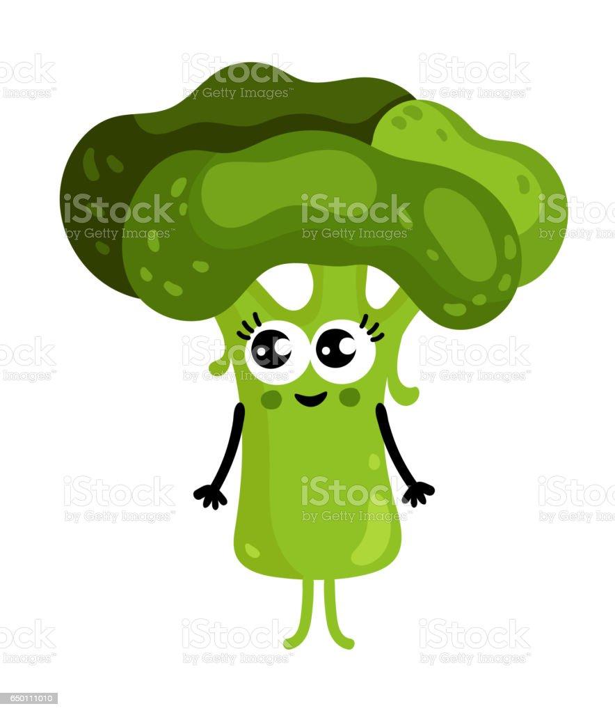 ilustração de personagem de desenho animado engraçado vegetais