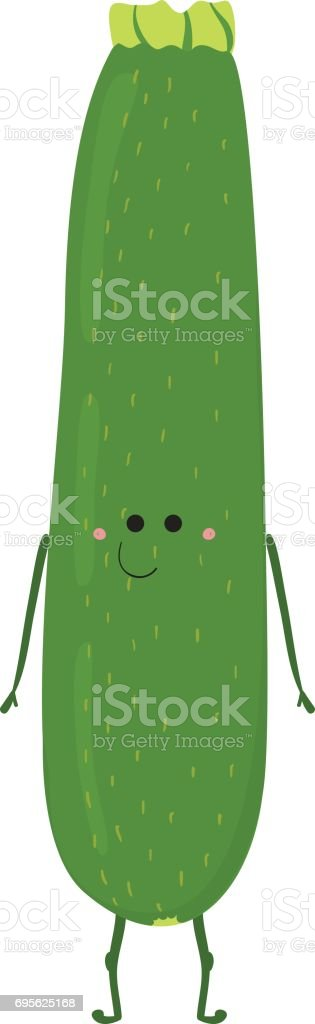 Funny Vegetable Card vector art illustration