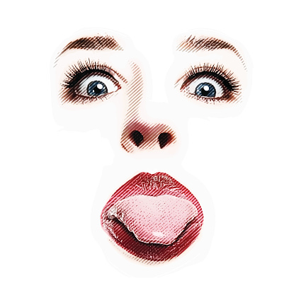 Funny Woman Sticking out Tongue