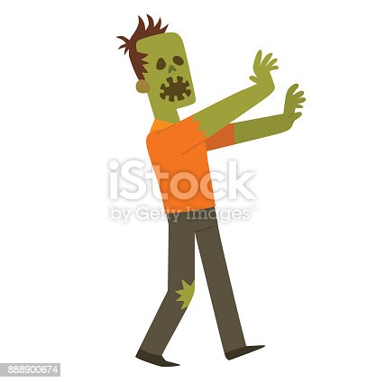 Funny zombie with an open mouth