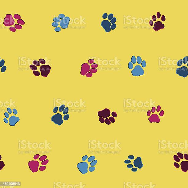 Funnybackground with cats footprints seamless vector pattern vector id469198943?b=1&k=6&m=469198943&s=612x612&h=guaajqkvyj3cuopivrre6td30ff72rlftsffq58xhrg=