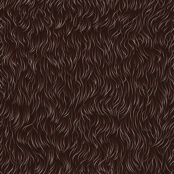 fur pattern Vector seamless pattern of animal fur  animal hair stock illustrations