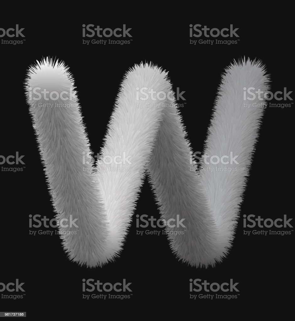 Fell textur 3D Buchstaben – Vektorgrafik