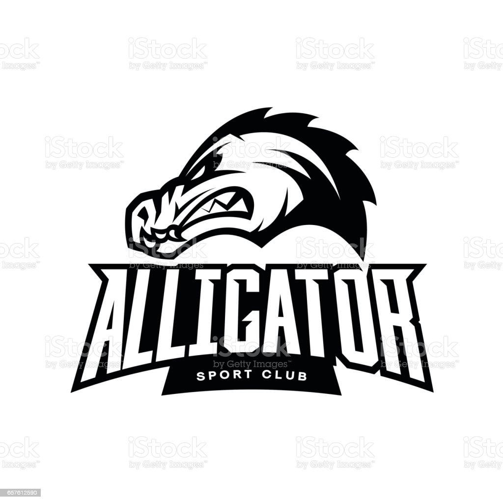 Furious alligator sport mono vector logo concept isolated on white furious alligator sport mono vector logo concept isolated on white background royalty free furious buycottarizona