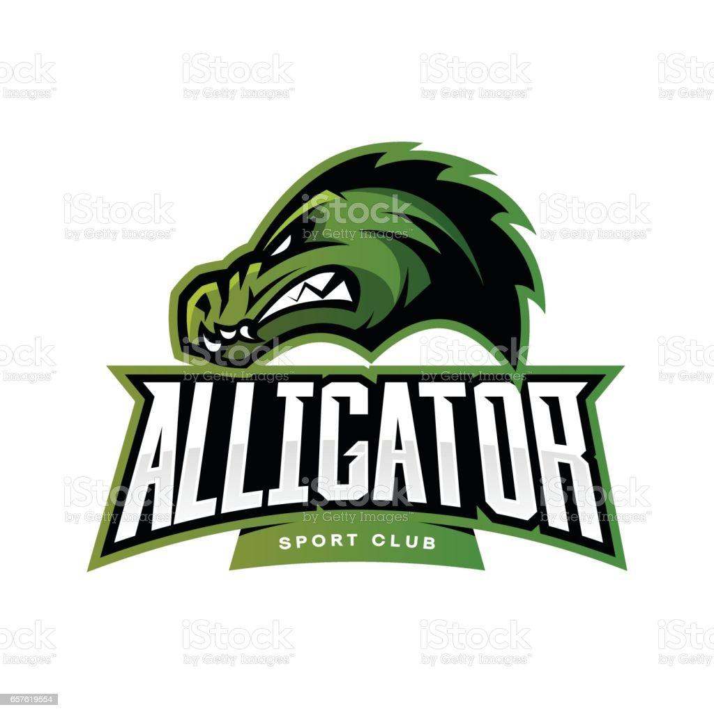 Furious alligator sport vector logo concept isolated on white furious alligator sport vector logo concept isolated on white background royalty free furious alligator sport buycottarizona