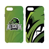 Furious alligator sport vector logo concept smart phone case isolated on white background.