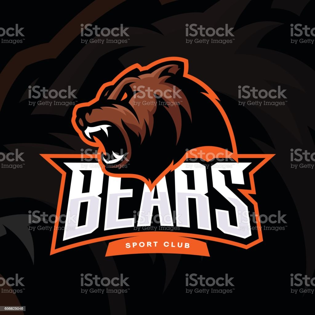 Furious bear sport vector vector art illustration