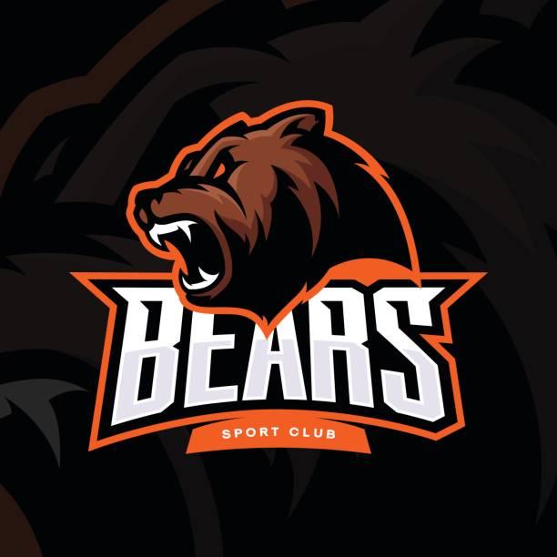 ilustrações, clipart, desenhos animados e ícones de vetor de esporte de urso furioso - urso
