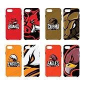 Furious boar, cobra, and eagle sport vector icon,  concept smart phone case.