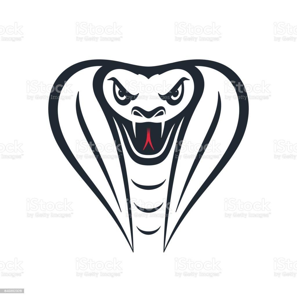 Furious cobra head, vector illustration vector art illustration