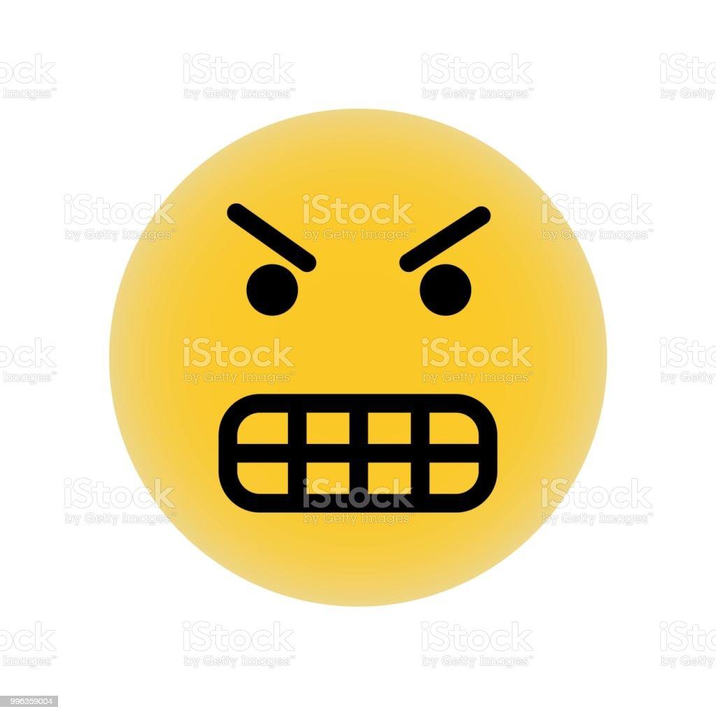 Emoticone Furieux Face Carree Vecteur Icone Illustration De Lelement Simple Conception De Symbole Carre Visage Emoticone Furieux Peut Etre Utilise Pour Le Web Et Mobiles Vecteurs Libres De Droits Et Plus D Images