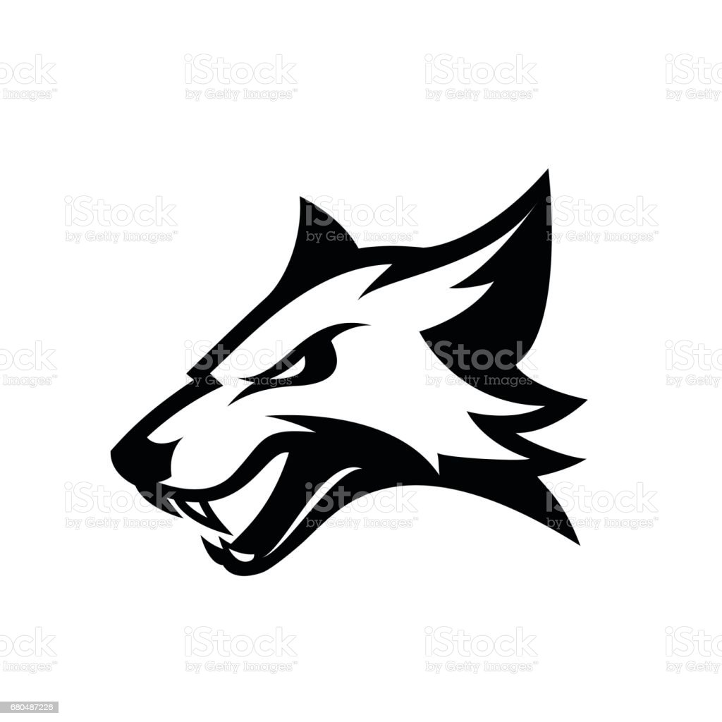 Furious fox sport club vector logo concept isolated on white background. vector art illustration