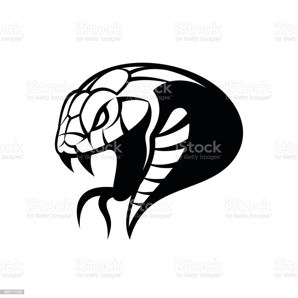 Furious green snake sport vector emblem concept isolated on white background. vector art illustration