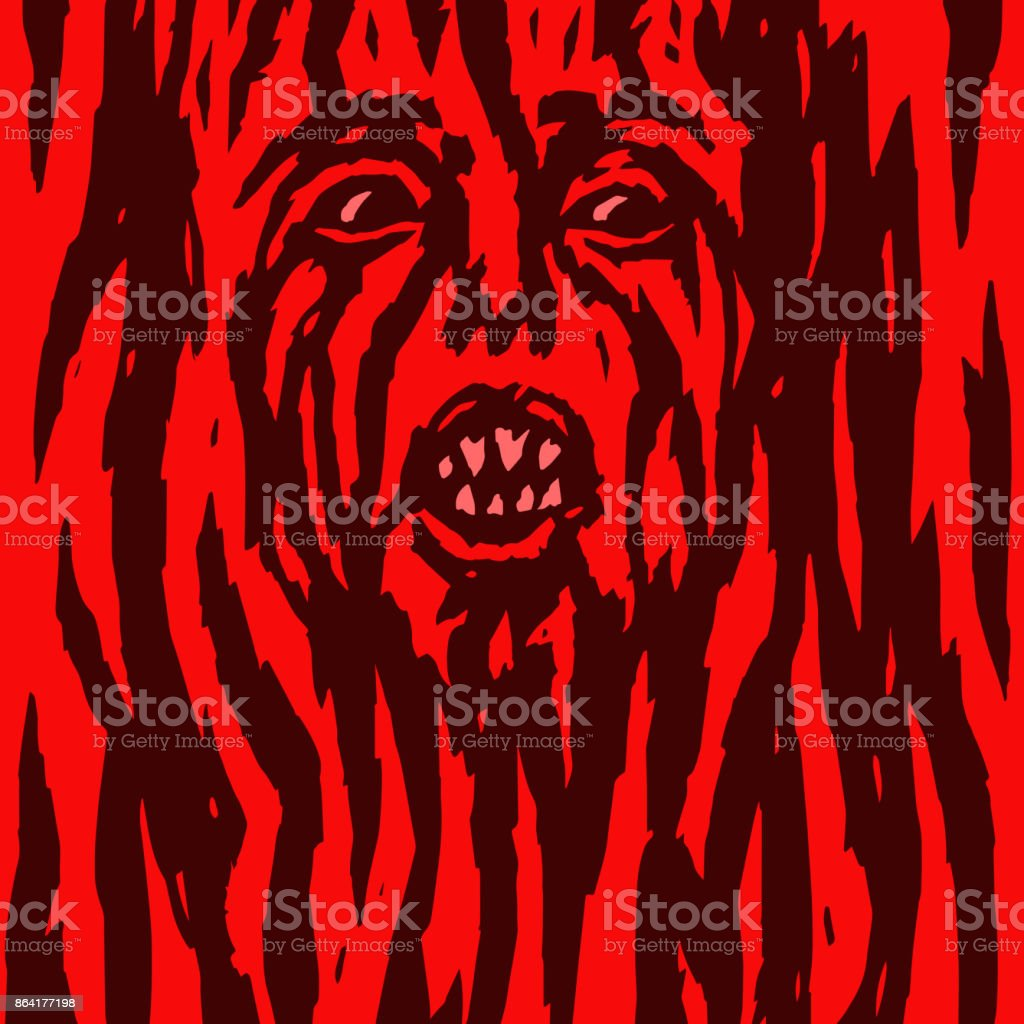 Furious red demon woman is bleeding. Vector illustration. Allegorical form. royalty-free furious red demon woman is bleeding vector illustration allegorical form stock vector art & more images of abstract
