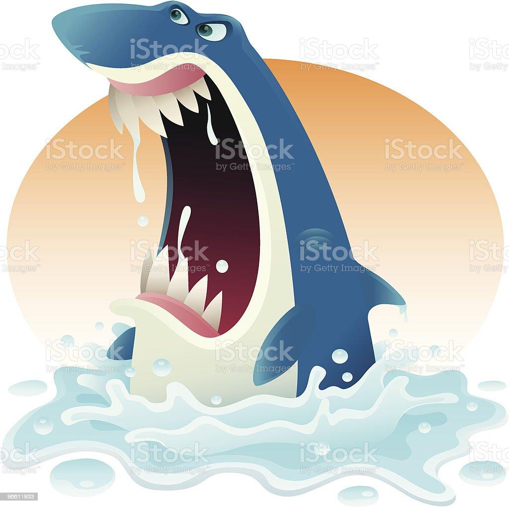 Rasend vor Wut shark - Lizenzfrei Aggression Vektorgrafik