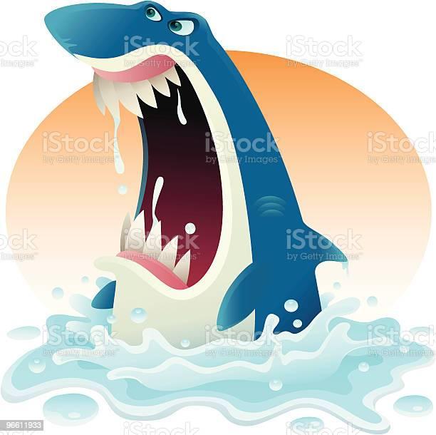 Furious Shark-vektorgrafik och fler bilder på Aggression