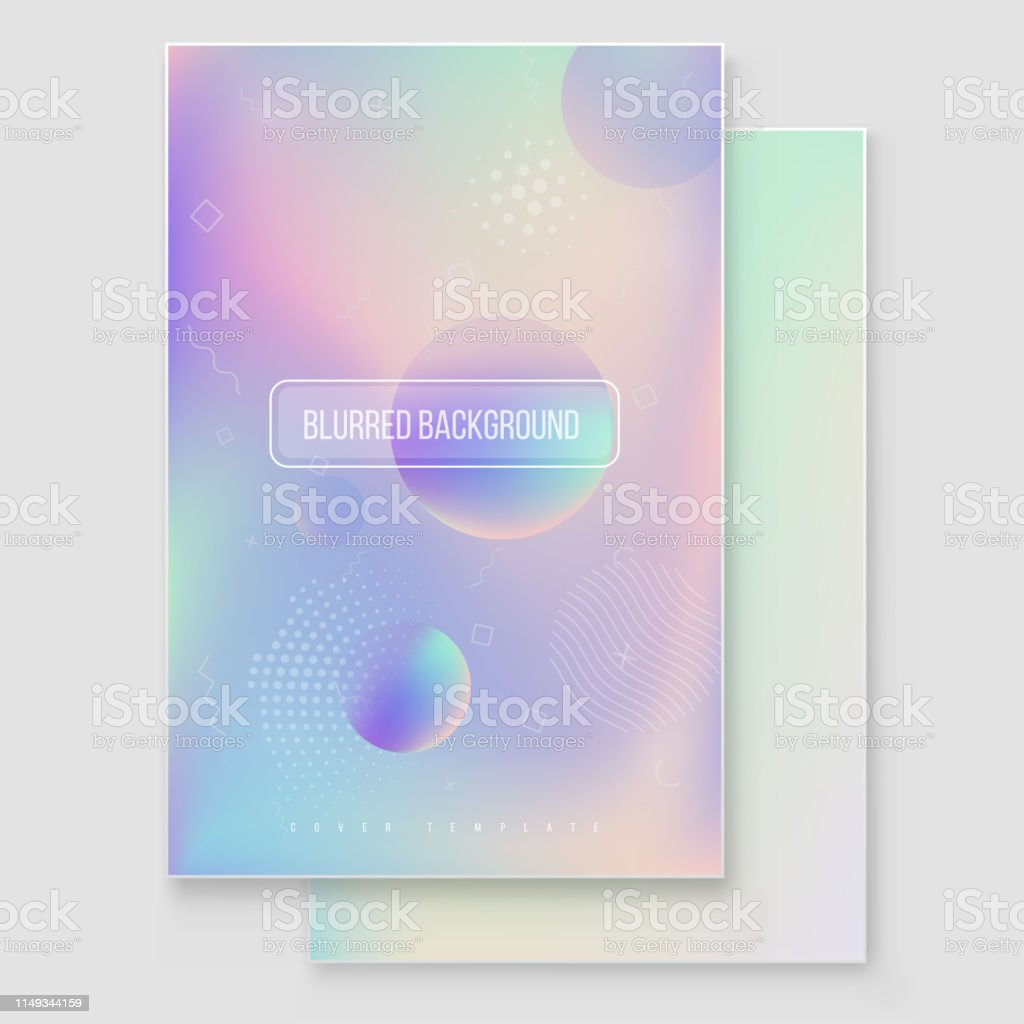 Furistic Modern Holographic Cover Set 90s 80s Retro Style