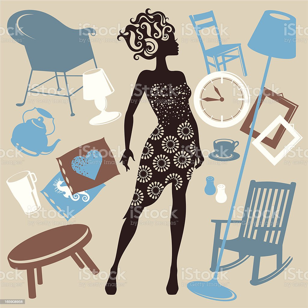 Furnishing. royalty-free stock vector art