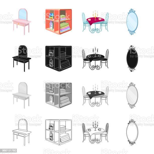 Möbler Bekvämligheter Stil Och Andra Webikonen I Tecknad Stil Kontor Företag Ikoner I Set Samling-vektorgrafik och fler bilder på Bord
