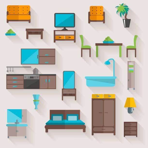 ilustrações de stock, clip art, desenhos animados e ícones de furniture 1 - kitchen counter