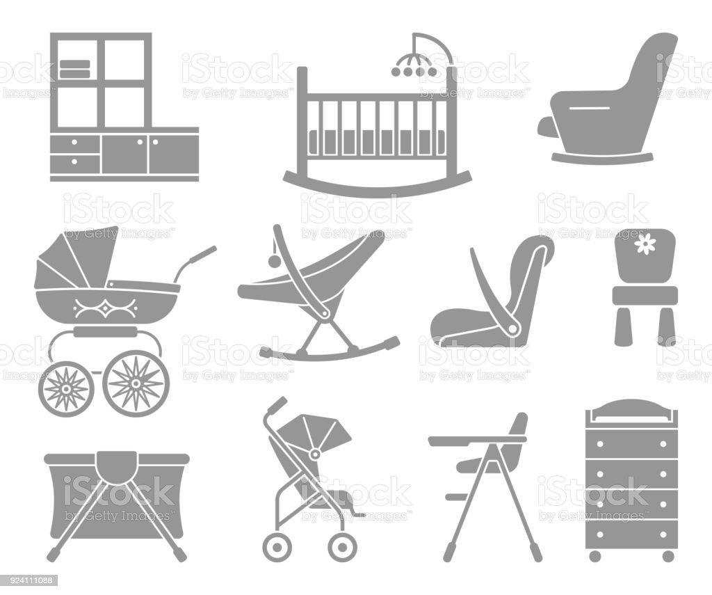 Ilustración de Muebles Y Equipos Para Niños y más banco de imágenes ...