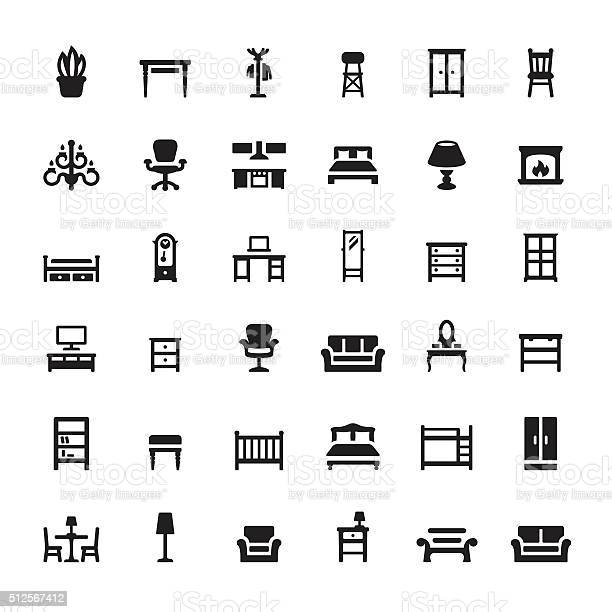 Furniture and interior features vector icons vector id512567412?b=1&k=6&m=512567412&s=612x612&h=gpda2npbgkgooljhcchunlftszd9c0dll9w1wcxifds=