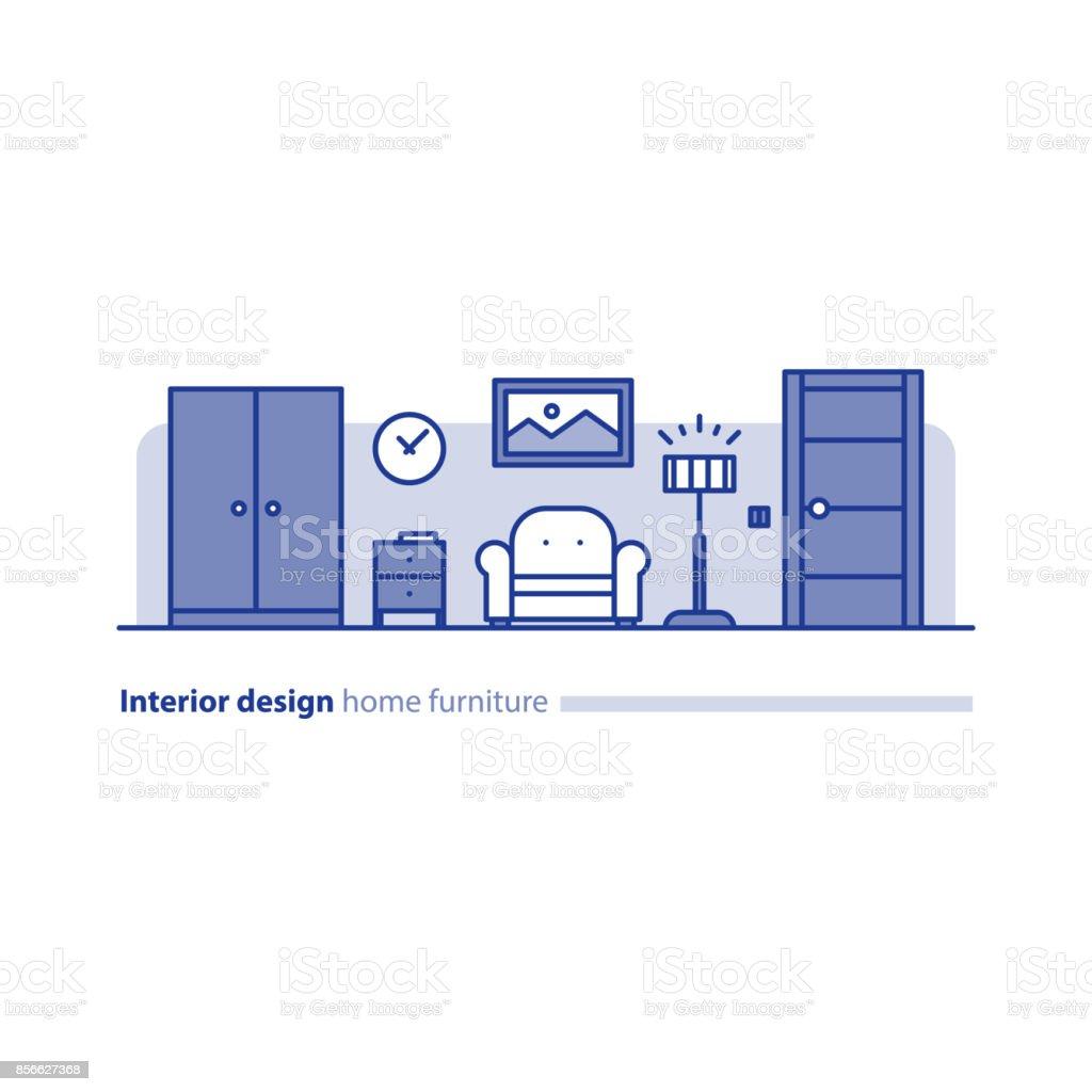 거실 단순 개념 편안한 집 현대적인 인테리어 디자인 가구 배치 ...