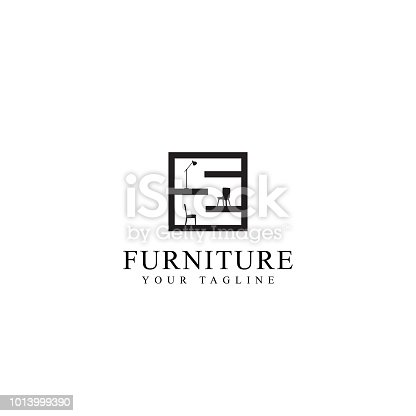 home furniture store, vector template