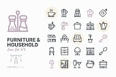 Furniture & Household icon set 3