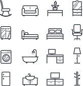 Furniture Icon Bold Stroke