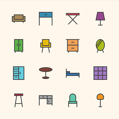 Furniture Icon - Outline Series