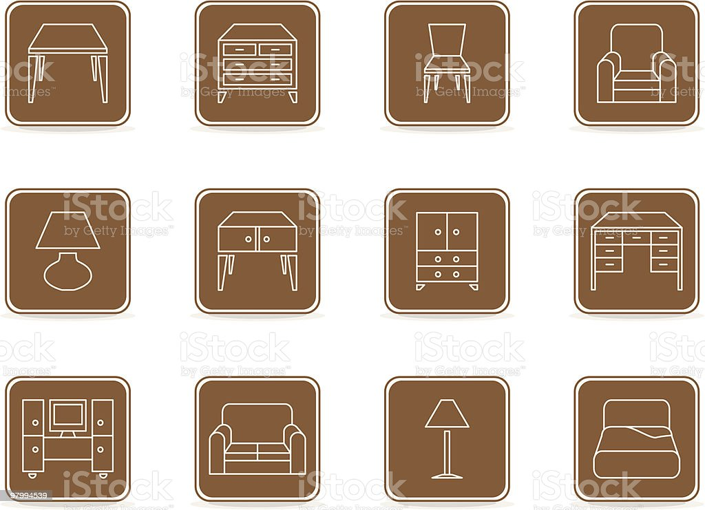 Furniture Icons 01 royalty-free furniture icons 01 stock vector art & more images of bed - furniture