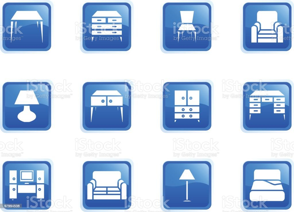 Furniture Icons 02 royalty-free furniture icons 02 stock vector art & more images of bed