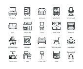 Furniture Icons - Line Series
