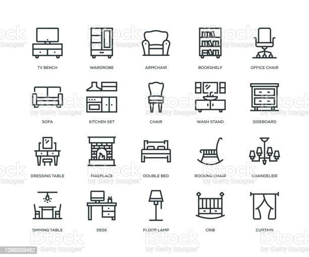 Furniture icons line series vector id1066939462?b=1&k=6&m=1066939462&s=612x612&h=pk4b z 9ezyyqvjx16jve4ihzm2v14y4chkbqpkgsqc=