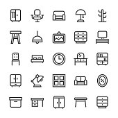 Furniture Icons - MediumX Line