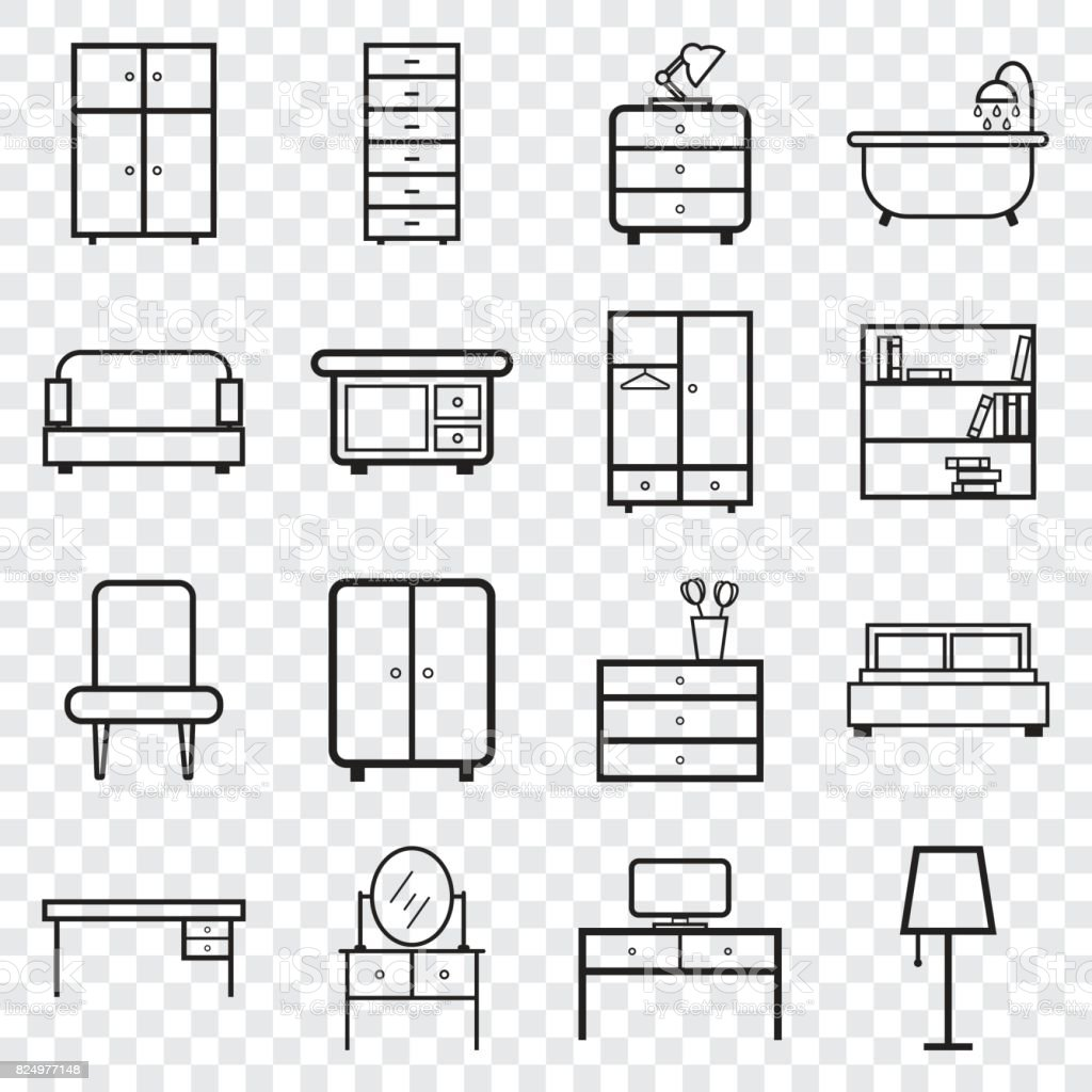 furniture icons set flat vector illustration on isolated background Parts of a Window Frame furniture icons set flat vector illustration on isolated background universal icon for web design illustration