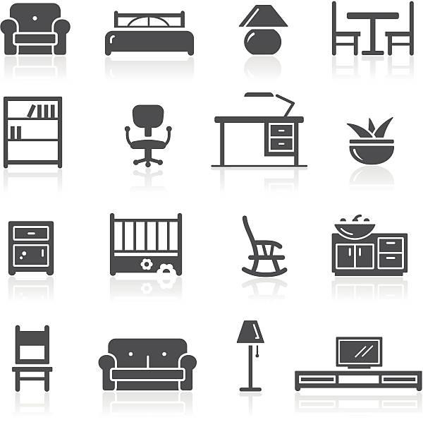 家具アイコン - 椅子 家具点のイラスト素材/クリップアート素材/マンガ素材/アイコン素材