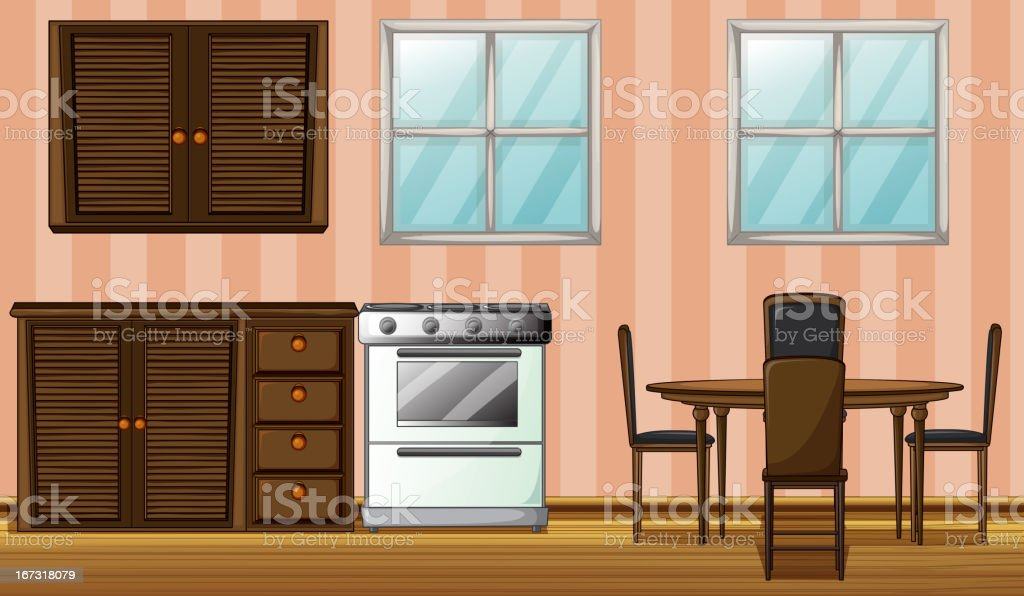 Furniture in a room royalty-free stock vector art