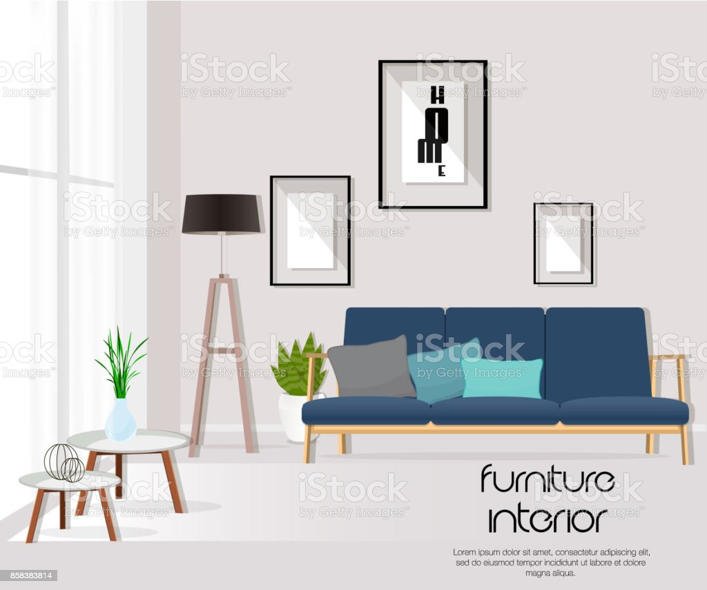Vector Of Living Room Stock Vector Image Of Sofa