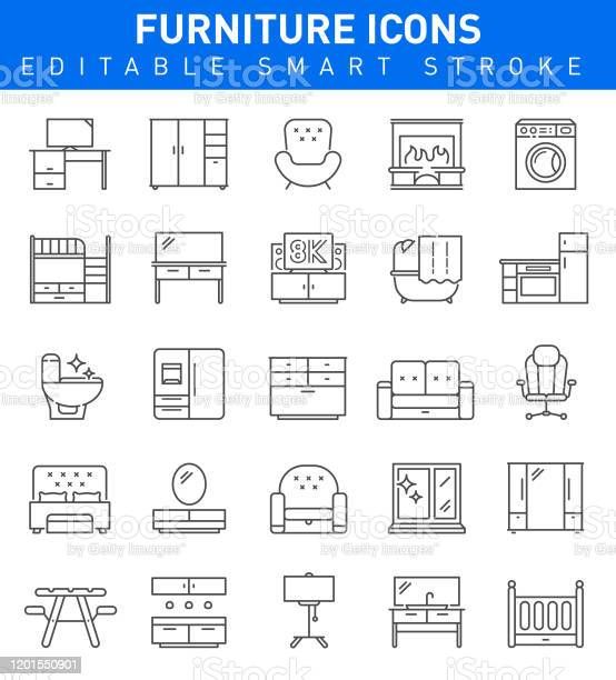 Furniture line icons editable stroke vector illustration vector id1201550901?b=1&k=6&m=1201550901&s=612x612&h=zmexd8  1mljvfbae 5g vl  x7m9pwrrpyurlbwlbs=