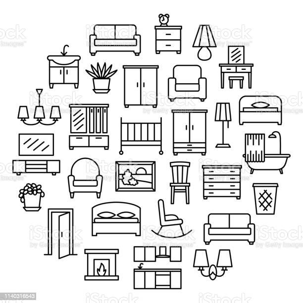Furniture linear icons sale banner vector id1140316543?b=1&k=6&m=1140316543&s=612x612&h= 5vojyq0dme kfzc c1asyq7vgwgtig6kz2l3e6crxc=