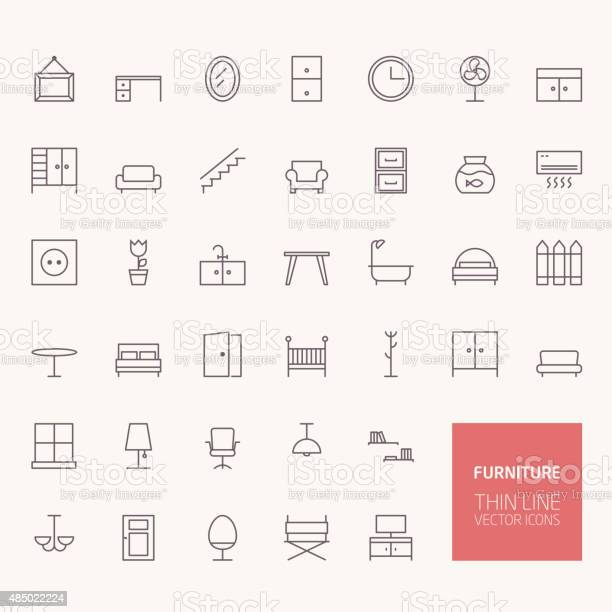 Furniture outline icons for web and mobile apps vector id485022224?b=1&k=6&m=485022224&s=612x612&h=znsaxnrcwtwxtgxpkr4vcrriey h ci6l2v6bnkk3l0=