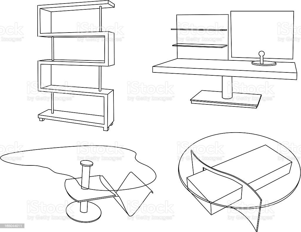 Furniture Outlines royalty-free furniture outlines stock vector art & more images of apartment